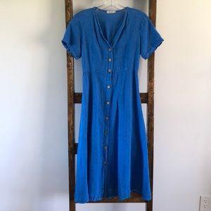 Laura Gotti 100% Linen Midi Dress
